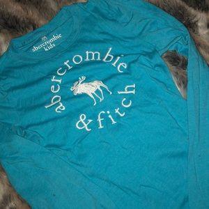 blue abercrombie shirt